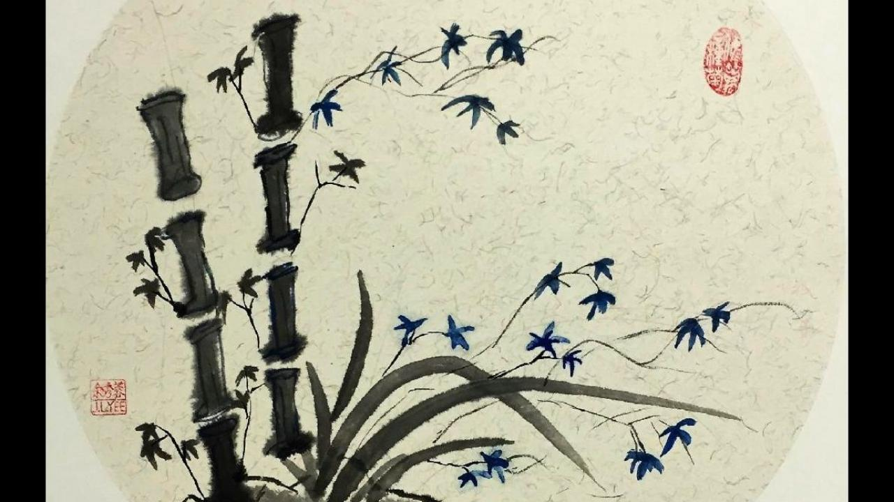 Student Chinese Painting of Bamboo